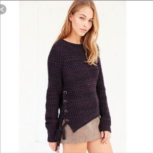 Kimchi Blue (UO) Anna Side Lace-Up Sweater Size S